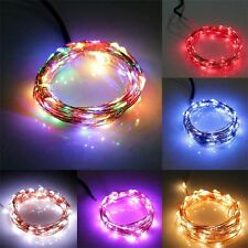 New 10M/33FT 100LED Copper Wire Xmas Wedding Party String Fairy Light DC 12V AX