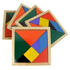 2/1 Wooden 7 Pieces Puzzle Tangram Recognization Baby Kid Intelligent Game Toys
