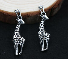 Lot  wholesale10/30pcs Retro Style silver alloy The giraffe charm pendant