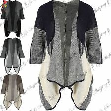 Ladies Short Sleeves Blanket Shawl Womens Oversized Baggy Warm Stole Wrap Cape