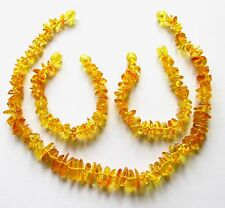 Genuine Baltic amber necklace or amber anklet bracelet, child baby size knotted