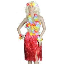 Colorful Hawaiian Tropical Hula Luau Grass Dancer Skirt Bra Set FOR Doll Girls