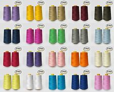2-Pack Cone Thread 4000 Yards Each - Polyester Thread for Sewing & Serger