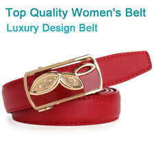Beautiful Luxury design genuine leather belts fashion womens Auto buckle belts