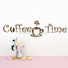 Coffee Time Wall Art Sticker Decal for Kitchen Cafe Shop Office Home Decoration