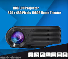 H86 LCD Projector 1000 Lumens 640 x 480 Pixels 1080P Home Theater Projector