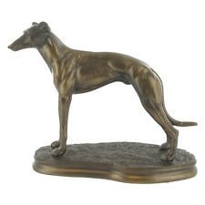 Greyhound / Whippet Dog Cold Cast Bronze Sculpture / Figurine.New & Boxed