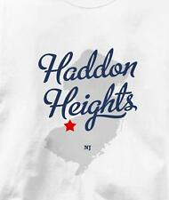 Haddon Heights, New Jersey NJ MAP Souvenir T Shirt All Sizes & Colors
