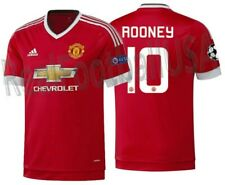 ADIDAS W. ROONEY MANCHESTER UNITED AUTHENTIC HOME ADIZERO UEFA CL JERSEY 2015/16