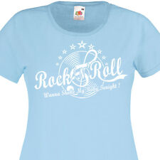 T-shirt femme ROCK'N'ROLL 50's 60's Rockabilly Vintage Retro Vinyle Pin-Up 1960