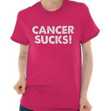 Breast Cancer Awareness Cancer Sucks! Beat Cancer Pink Ribbon T-Shirt Tee