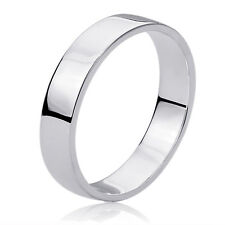 Women's Sterling Silver 6mm Flat Classy Plain Wedding Band Ring Wedding Band
