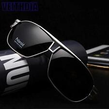 Men Black Polarized Aviator Glasses Outdoor Sports Eyewear Driving UV Sunglasses