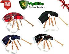 Junior Child/Kids Playable Bagpipe Toy Bagpipe Different Tartans Made in Ireland