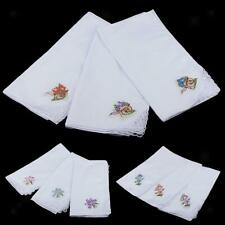 12x Vintage Women Cotton Handkerchief Embroidery Lace Hanky Hankies Scarves
