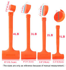 Fashion Dead Blow Hammer,Neon Orange Mallet 1LB / 2LB / 3LB / 4LB -US Free Ship