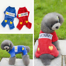 I Love Daddy & Mommy Cute Pet Winter Clothes Puppy Dog Cat Vest T Shirt Apparel