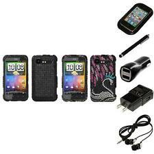 For HTC Droid Incredible 2 Diamond Diamante Bling Rhinestone Case Headphones