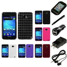 For Samsung Galaxy S2 i9100 TPU Rubber Skin Flexible Case Phone Cover Headphones