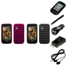 For Samsung Fascinate i500 TPU Rubber Skin Flexible Case Phone Cover Headphones