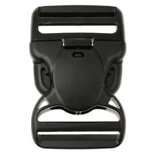Plastic Side Release Buckle Clip For Webbing Bags Straps Clips 25/50/38mm Black