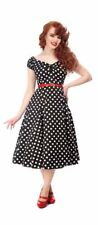 Collectif Dolores 50s Style Black and White Polka Dot Doll Dress