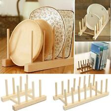Wooden Mug Stand Kitchen Storage Rack Cup Holder Book Shelf Dish Tray Plate Hold