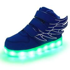 HOT Angel Wings Kids LED Light up Luminous Sneakers Boys & Girls Casual Shoes
