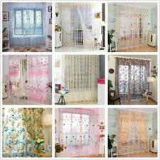 SCARF SHEER VOILE WINDOW CURTAIN DRAPES VALANCE 3 SIZES MANY PATTERN AVILABLE