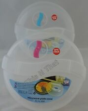 Plastic Microwave Plate Covers W/Steam Vent Lid or Divided Plate Food Storage