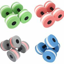 Water Aerobics Dumbbell MEDIUM Aquatic Barbell Aqua Fitness Pool Exercise 2pcs