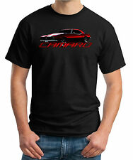 Camaro Muscle Car Classic Hot Rod SS Z28 1967 1968 1969 Black Tee 67 68 69 Shirt