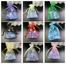wholesale! 50/100pcs Organza Jewelry Pouch Wedding Party Favor Gift Bag 9x12cm