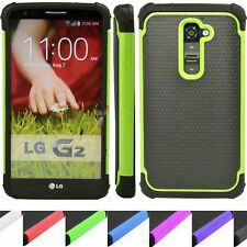 Shockproof IMPACT Heavy Duty Rugged Hybrid Armor Verizon VS980 LG G2 Case Cover