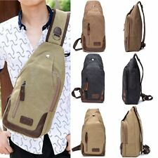 Canvas Military Hiking Messenger Travel Chest Pack Backpack  Shoulder Bags Sling