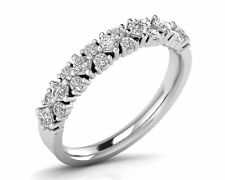 0.60Ct Round Brilliant Cut & Princess Diamonds in Half Eternity Ring in 18K Gold