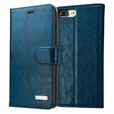iPhone 7 Plus Leather Wallet Case, Labato Genuine Leather Stand Folio Flip Magne