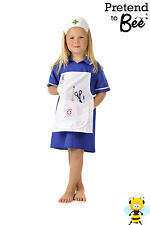 GIRLS KIDS CHILDRENS NURSES HERO DAY FANCY DRESS UP OUTFIT COSTUME AGE 3 4 5 6 7