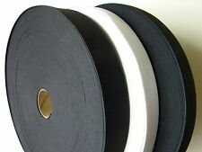 1 Roll Knitted Elastic Black/White Size: 1.5   inch wide 50 Yards New