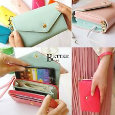 Women mini colorful Clutch Bag Cell Phone Pockets Coins Case Casual Purse wallet