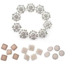 New Crystal Rhinestone Pearl Shank Buttons Dress Clothing Sewing Craft
