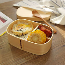 Lunch Box Business Office School Bento Wood Food Container Japan Style Meal Box