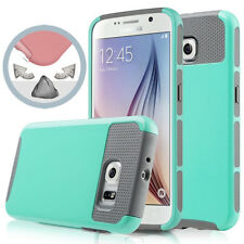 Turquoise Hybrid Rugged Rubber Hard Shockproof Case for Samsung GALAXY iPhone