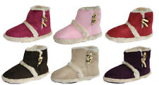 Ladies Girls Coolers Furry Toggle Ankle Boot Bootee Slippers Sizes 3 - 8