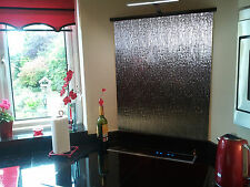 Silver Textured toughened Glass Splashback 600 x 750mm