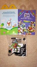MCDONALDS 2016 TEENAGE MUTANT NINJA TURTLES HAPPY MEAL TOY #1 LEONARDO +FLAT BOX