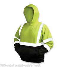 10 Pack Safety Hoodie Hi-Vis Class 3 Sweatshirt Hooded Meets ANSI Sizes M-4XL