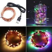 USB Charge LED String Light Fairy Copper Wire Starry Light Holiday Party Wedding