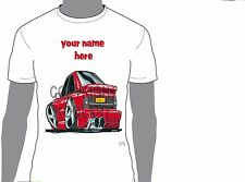 KOOLART AUDI TT A4 EVO A6 CARTOON STYLE PERSONALISED NAME T-SHIRT GIFT 6 DESIGNS