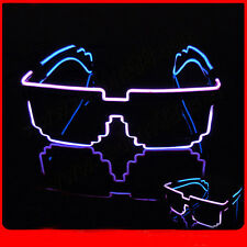 Sound Activated Light Up LED Flashing Glasses EL Wire Glow Rave Strobing EDM